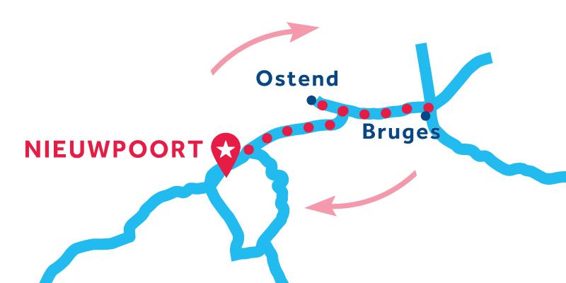 Nieuwpoort RETURN via Bruges