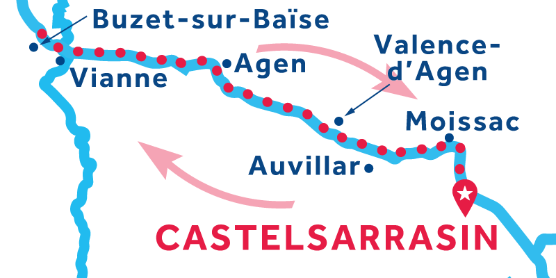 Castelsarrasin RETURN via Buzet-sur-Baïse