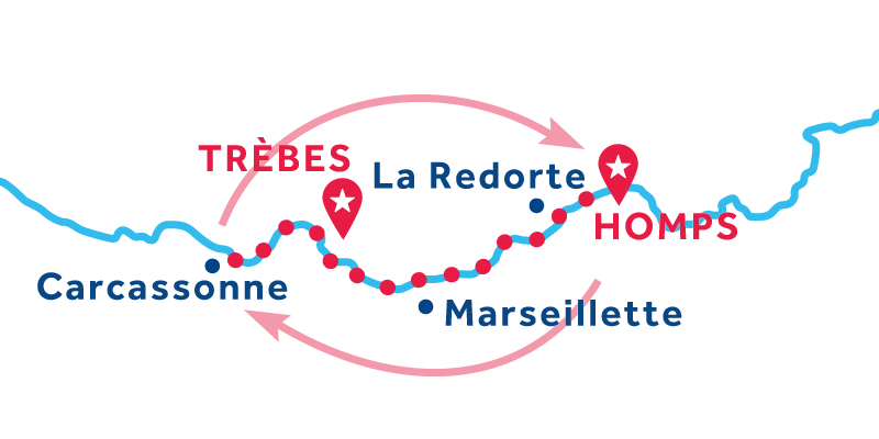 Homps to Trebes