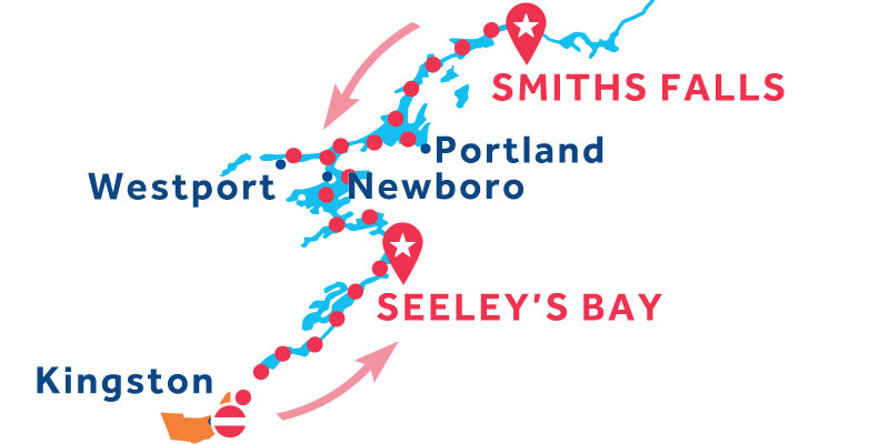 Seeley's Bay RETURN via Westport and Kingston