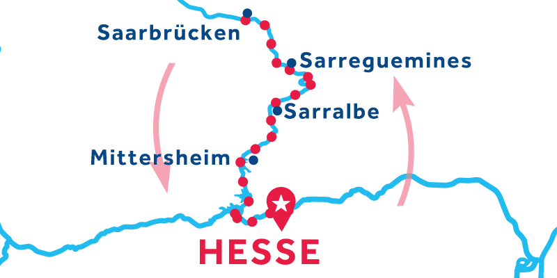 Hesse return via Saarbrucken