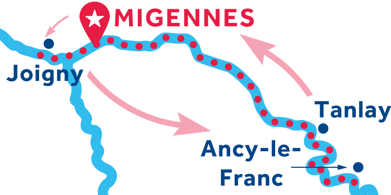 Migennes RETURN via Joigny, Auxerre & Tanlay