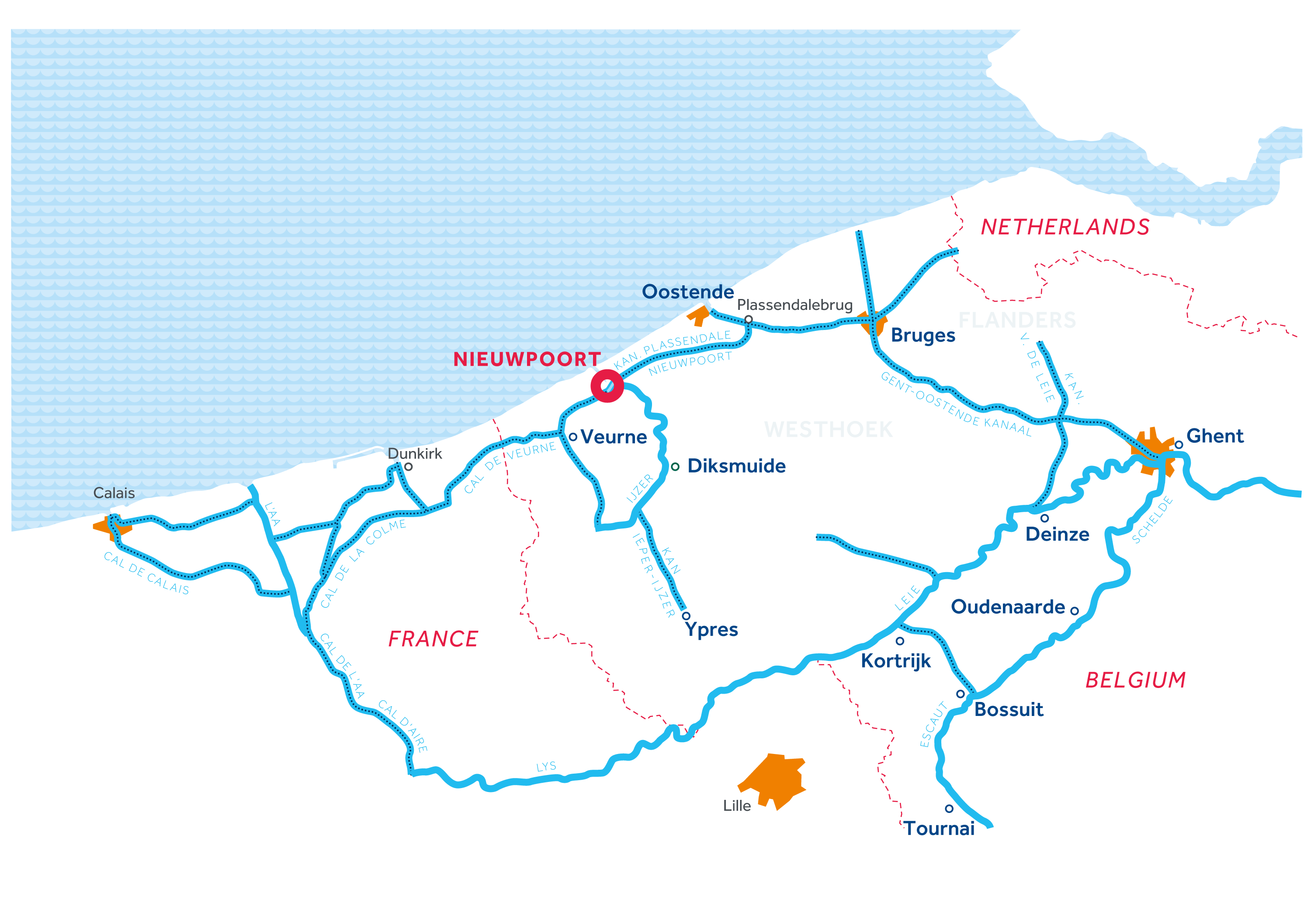 Flanders Region map