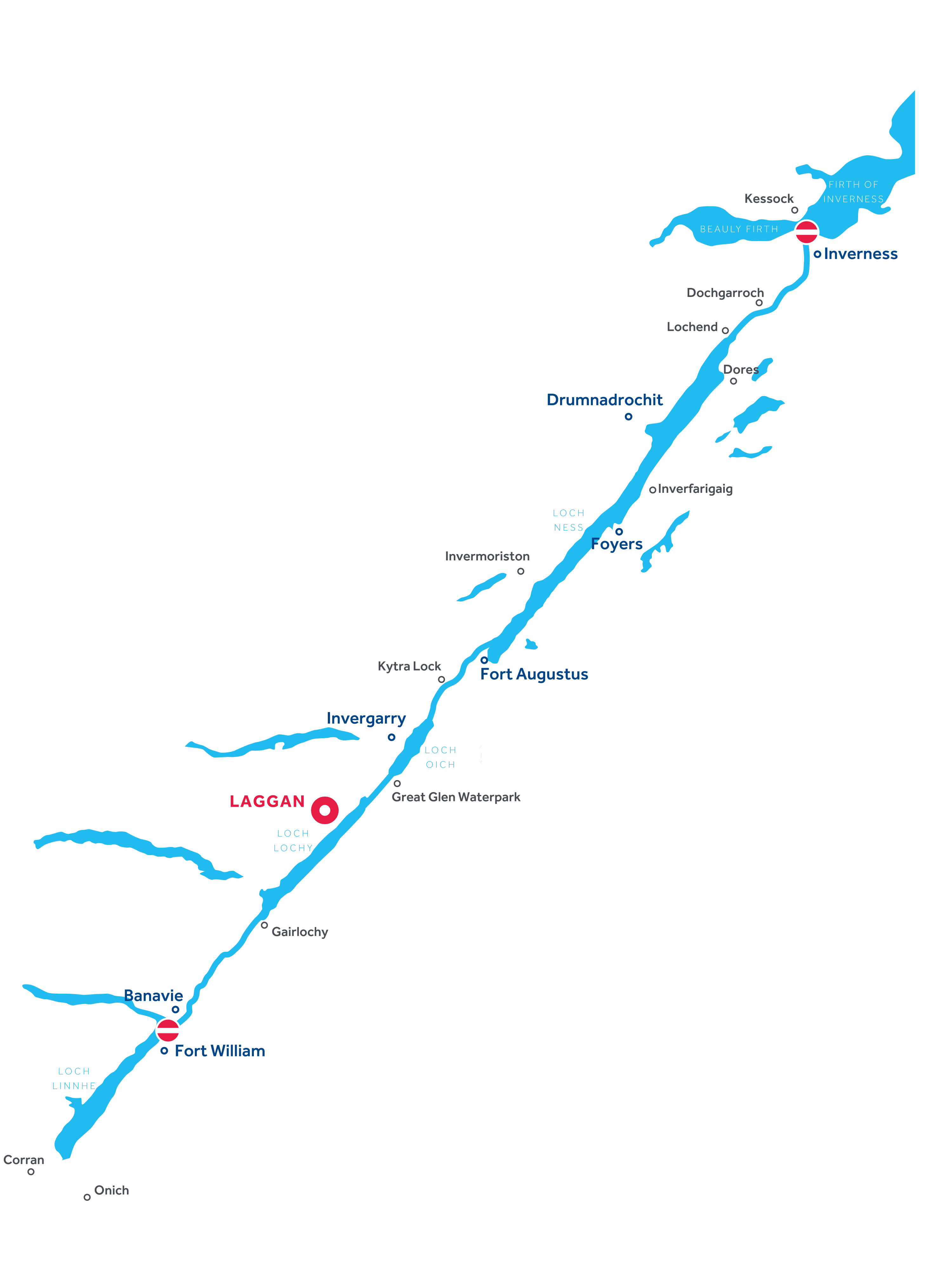 Map of Caledonian Canal