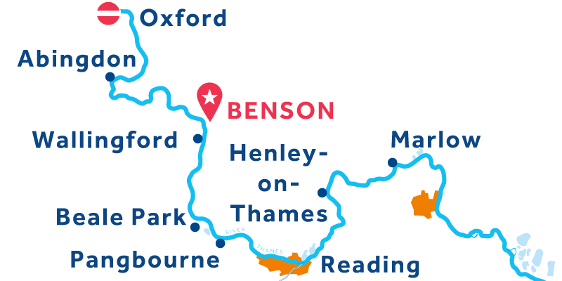 Benson RETURN via Oxford & Henley