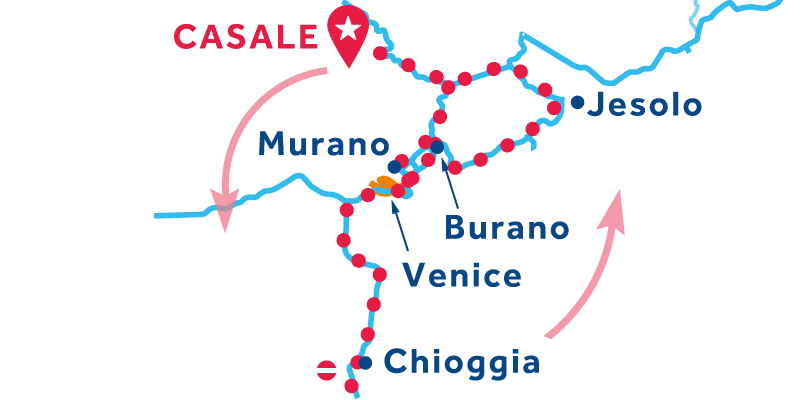Casale RETURN via Venice, Chioggia & Lido di Jesolo