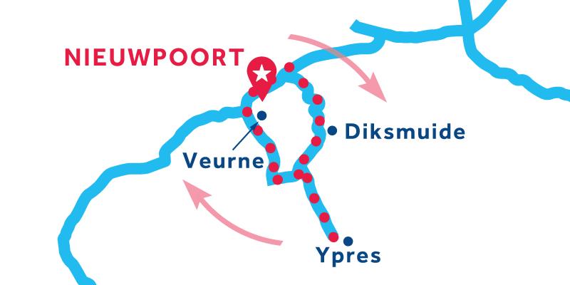 Nieuwpoort RETURN via Ypres & Veurne