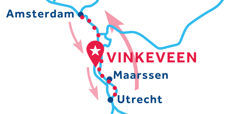 Vinkeveen RETURN via Amsterdam & Utrecht