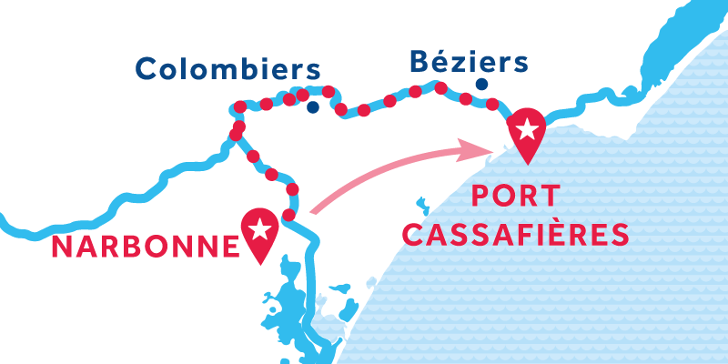 Narbonne to Port Cassafières