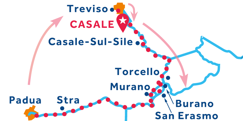Casale RETURN via Venice & Stra (Padua)