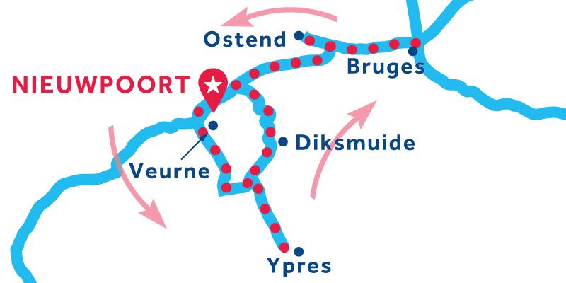 Nieuwpoort RETURN via Ypres & Bruges