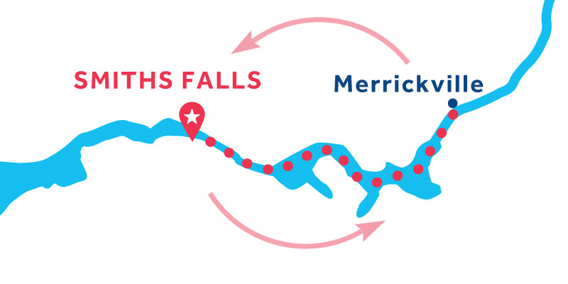 Smiths Falls RETURN via Merrickville