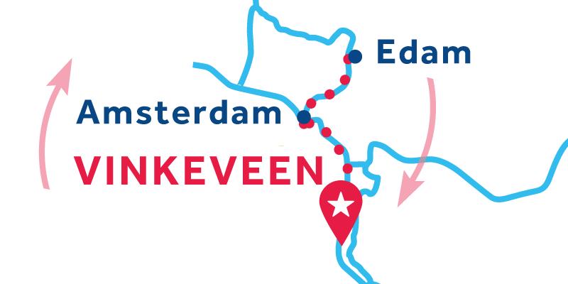 Vinkeveen RETURN via Amsterdam, Edam & Alkmaar
