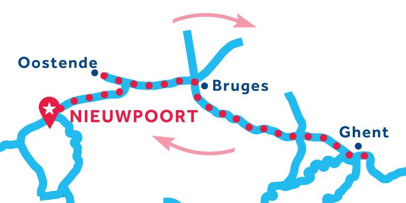 Nieuwpoort RETURN via Bruges & Ghent