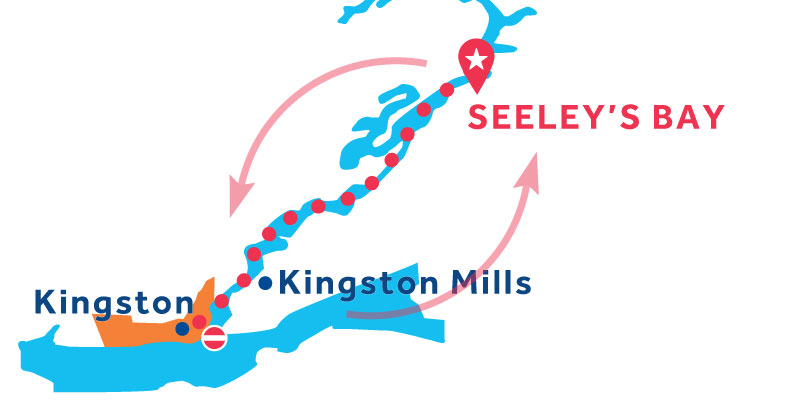 Seeley's Bay RETURN via Kingston