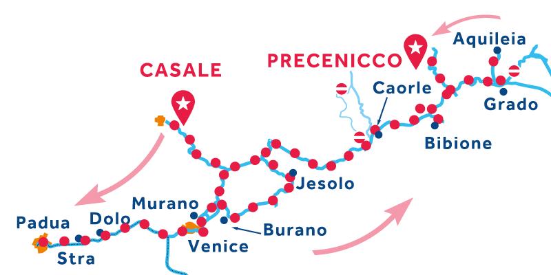 Casale to Precenicco via Venice & Padua, Chioggia