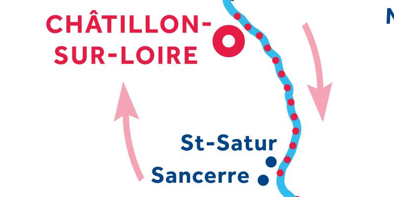 Châtillon-sur-Loire RETURN via Sancerre
