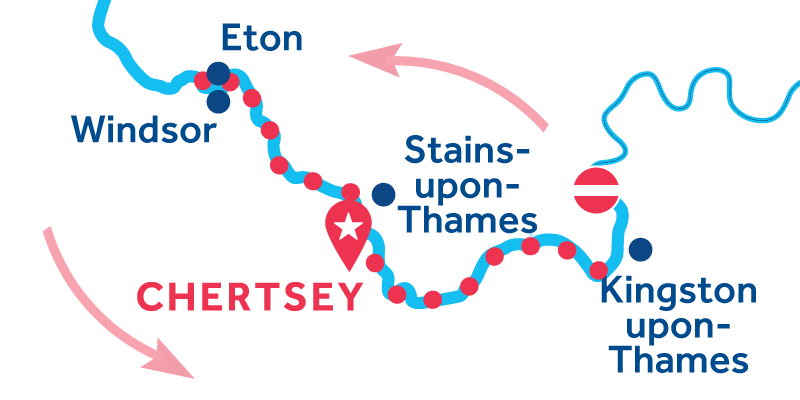 Chertsey RETURN via Windsor & Kingston-upon-Thames