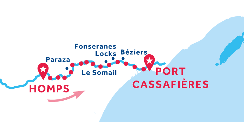 Homps to Port Cassafières