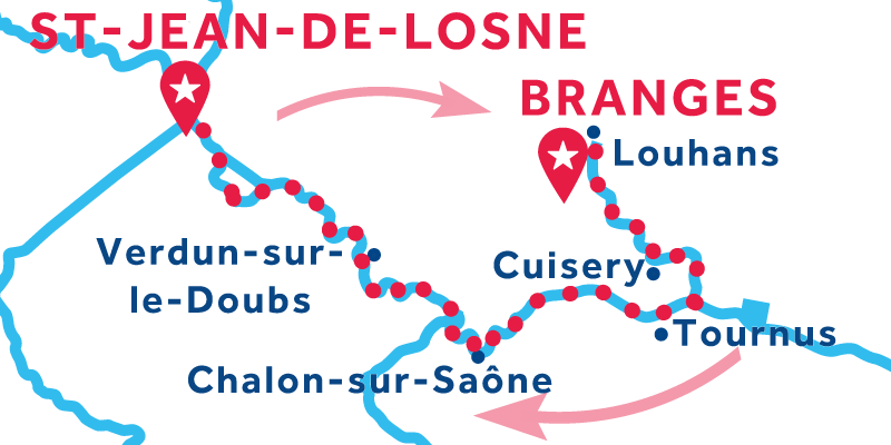 Saint-Jean-de-Losne RETURN via Louhans