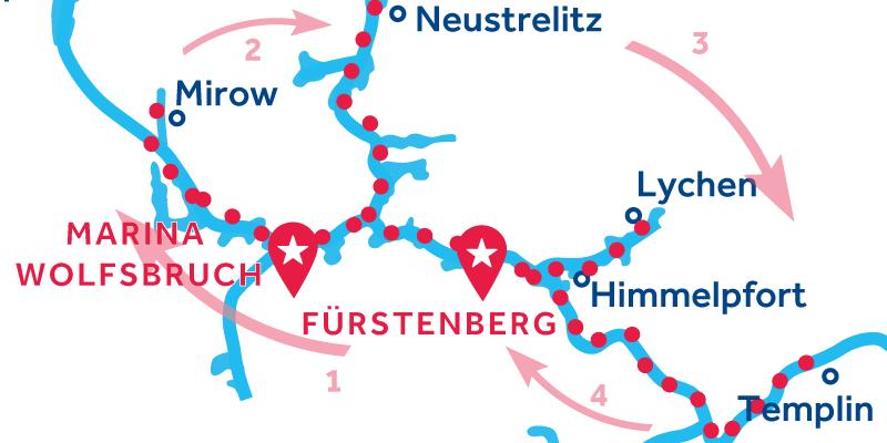 Fürstenberg RETURN via Waren, Neustrelitz & Templin