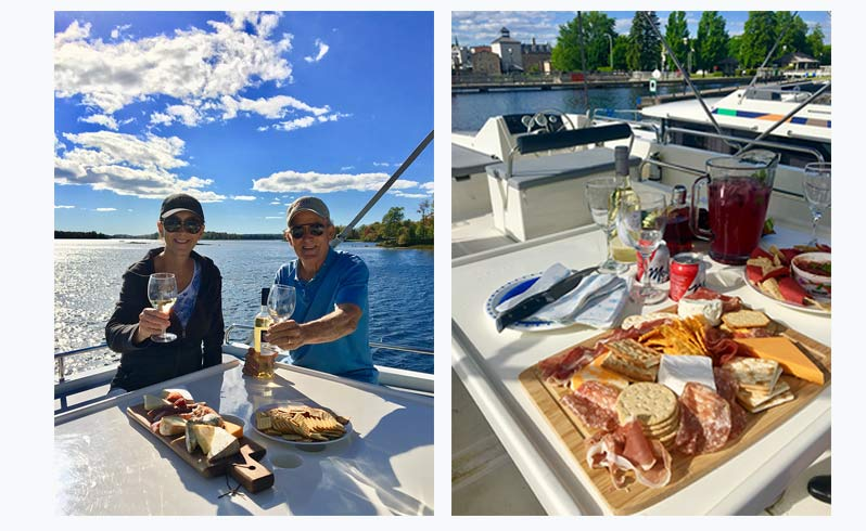 Charcuterie on the top deck