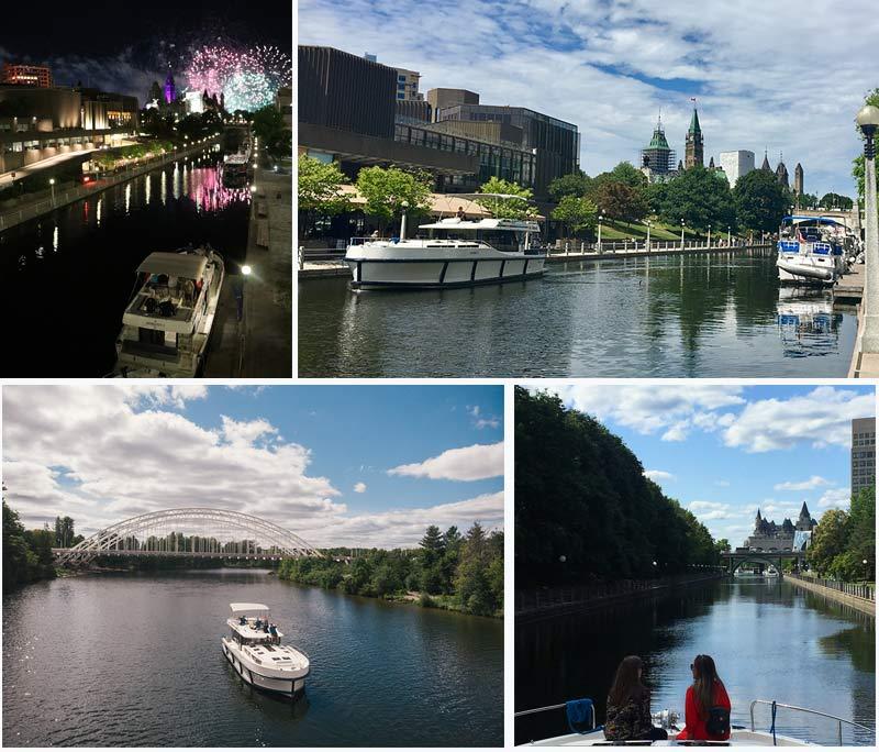 Cruise your luxury houseboat rental into downtown Ottawa