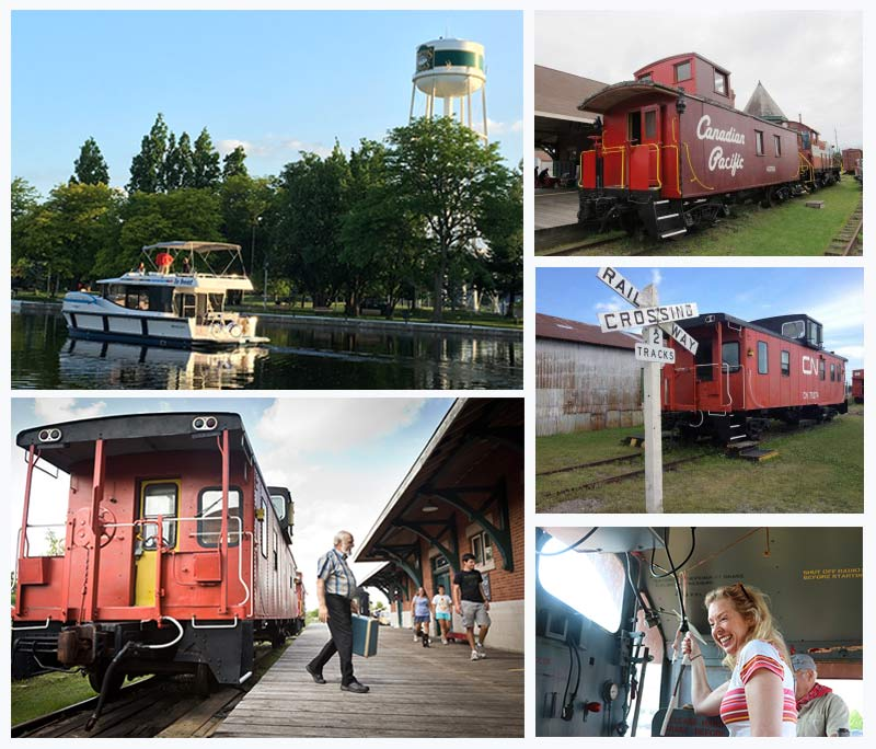 Spend the night on a caboose at the Railway Museum of Eastern Ontario in  Smiths Falls