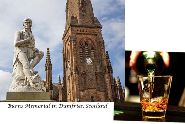 Robbie Burns Statue in Dumfries Scotland