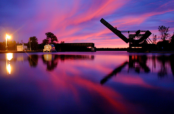 Sunset on the UNESCO Rideau Canal