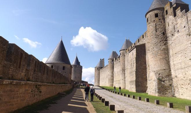 1. Go back in time in Carcassonne