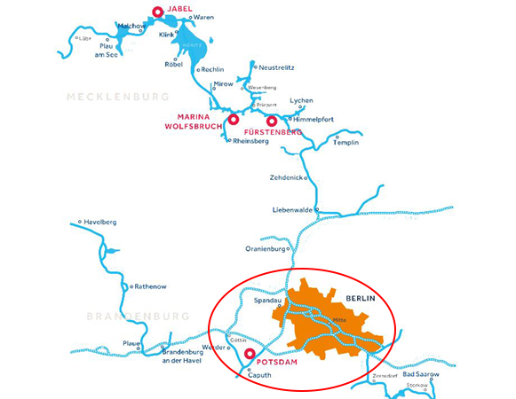 Gewässerkarte Berlin Deutschland