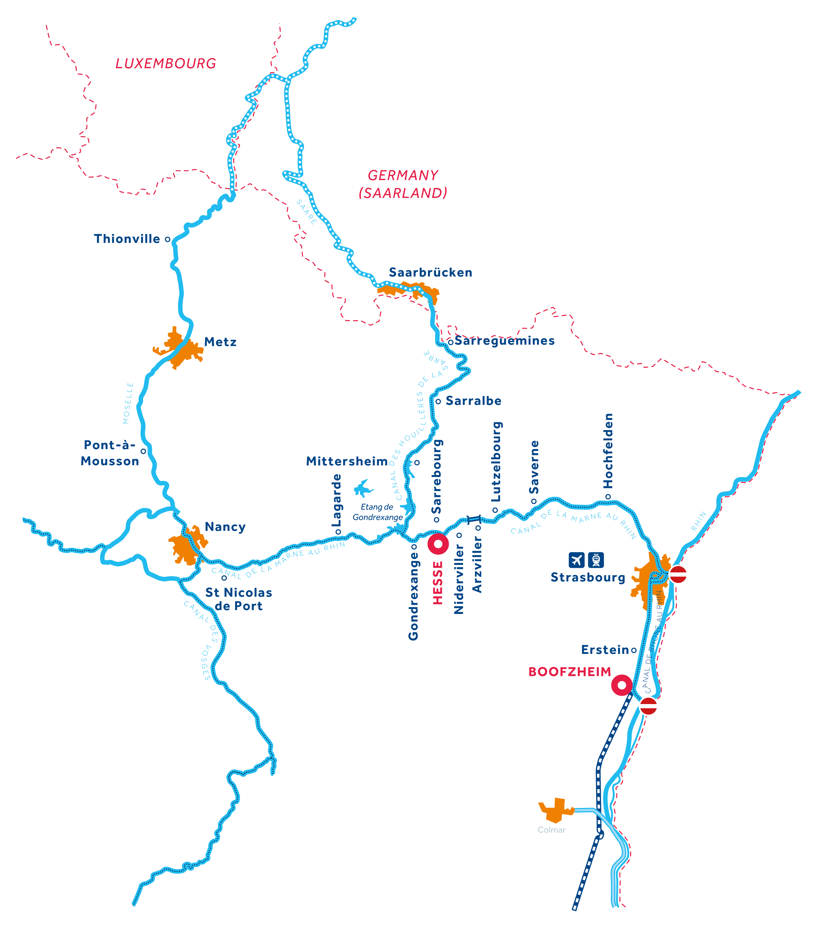 Alsace Region map