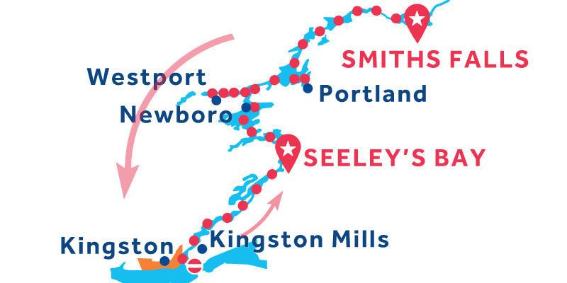 Smiths Falls to Seeley's Bay via Kingston