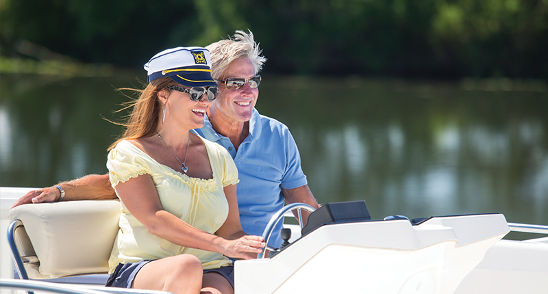 Couple on Le Boat Vacation