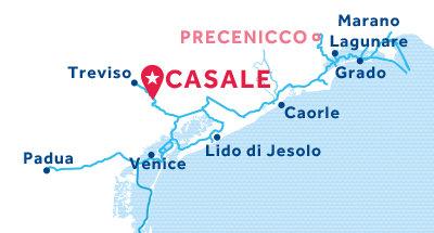 Casale base location map