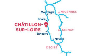Châtillon-sur-Loire base location map