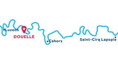 Douelle base location map