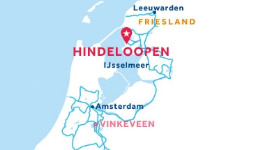 Hindeloopen base location map