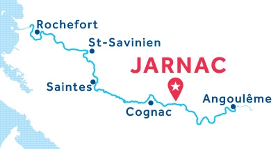 Jarnac base location map