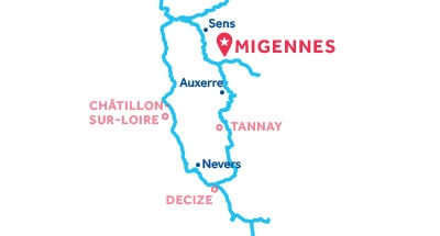 Migennes base location map