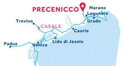 Precenicco base location map