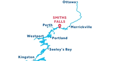 Smiths Falls base location map