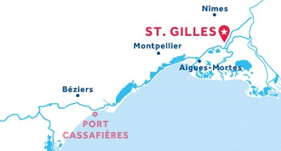 St. Gilles base location map