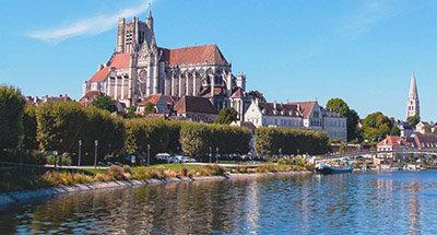 Axuerre Church overlooking river