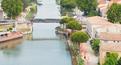 Bridge and canal in the Carmargue