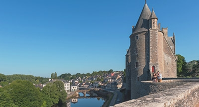 Castle Josselin and Le Boats in Brittany
