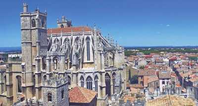 Cathedral on the Canal du Midi