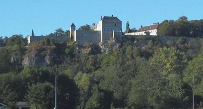 Chateau perched on cliff