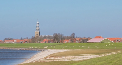 Fields and Lakes in Holland